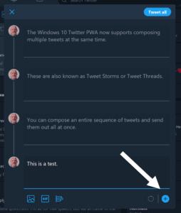 Twitter PWA App on Windows 10