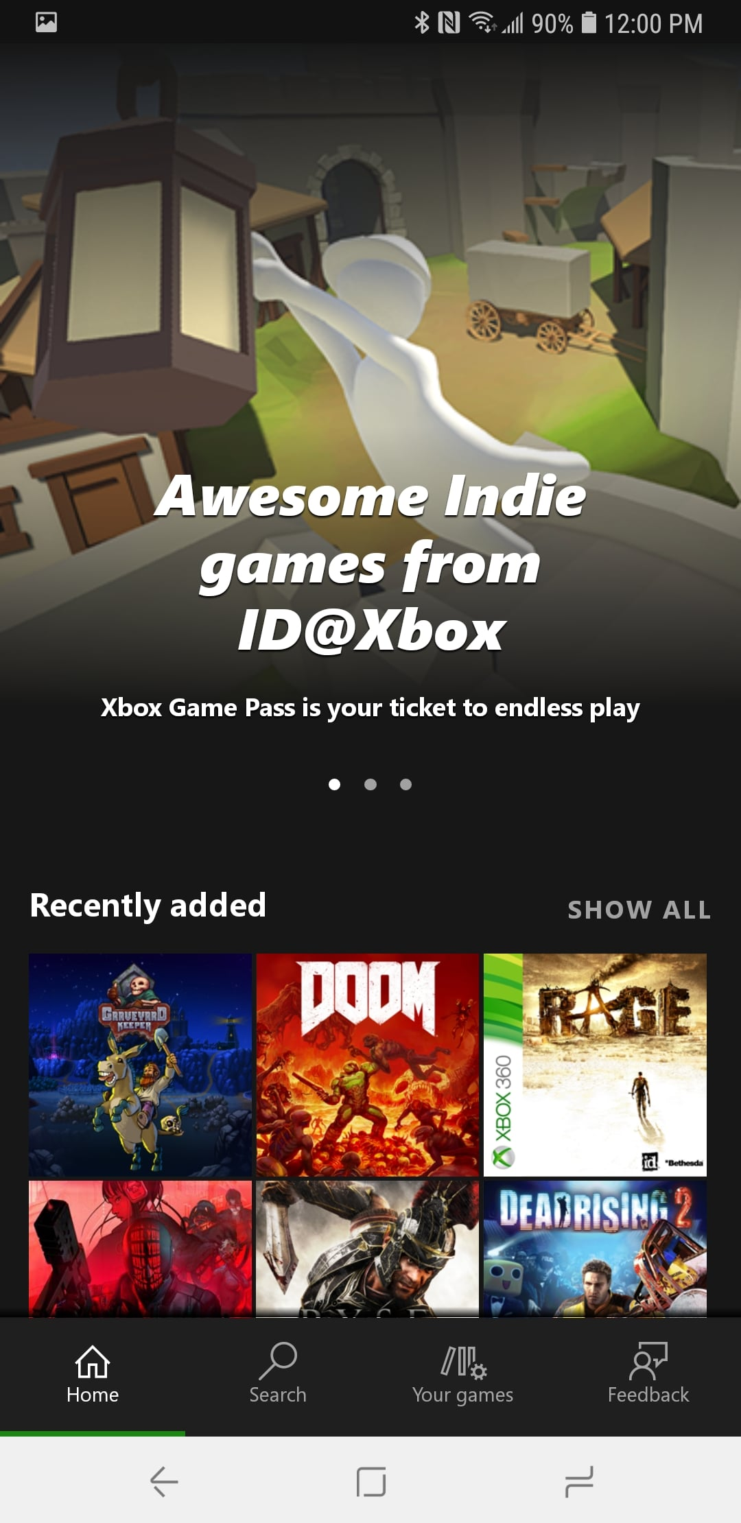 Xbox Game Pass App on Android