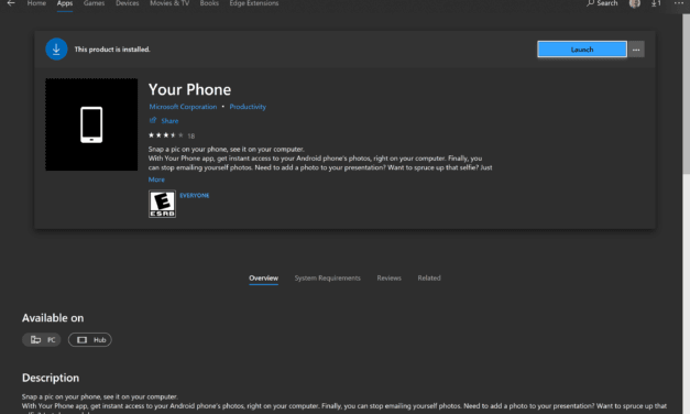 Your Phone App Now Available for Windows 10 Version 1803