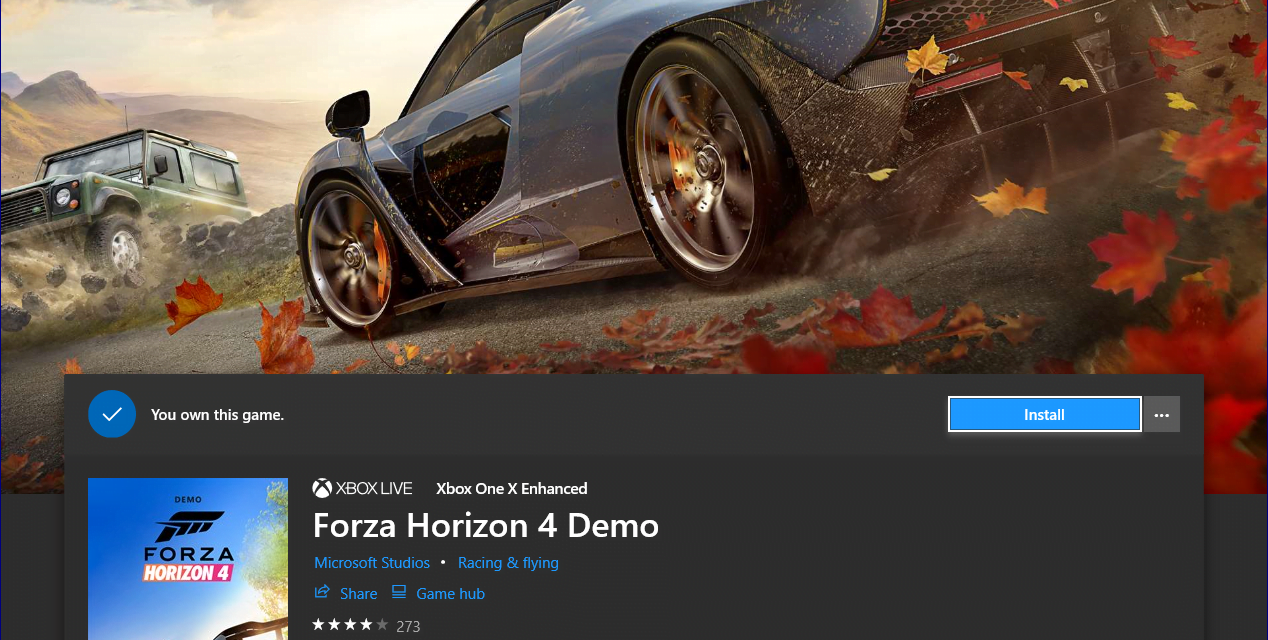 Forza Horizon 4 Demo Available for Xbox One and PC