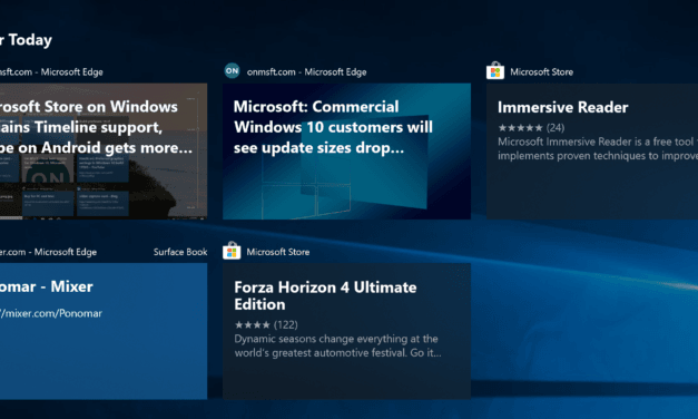 Microsoft Store Listings Added to Windows 10 Timeline