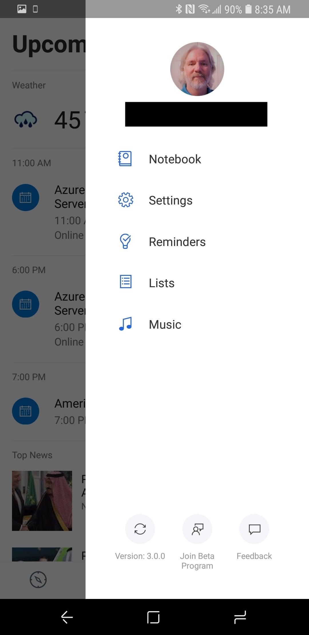 Cortana App 3.0 on Android