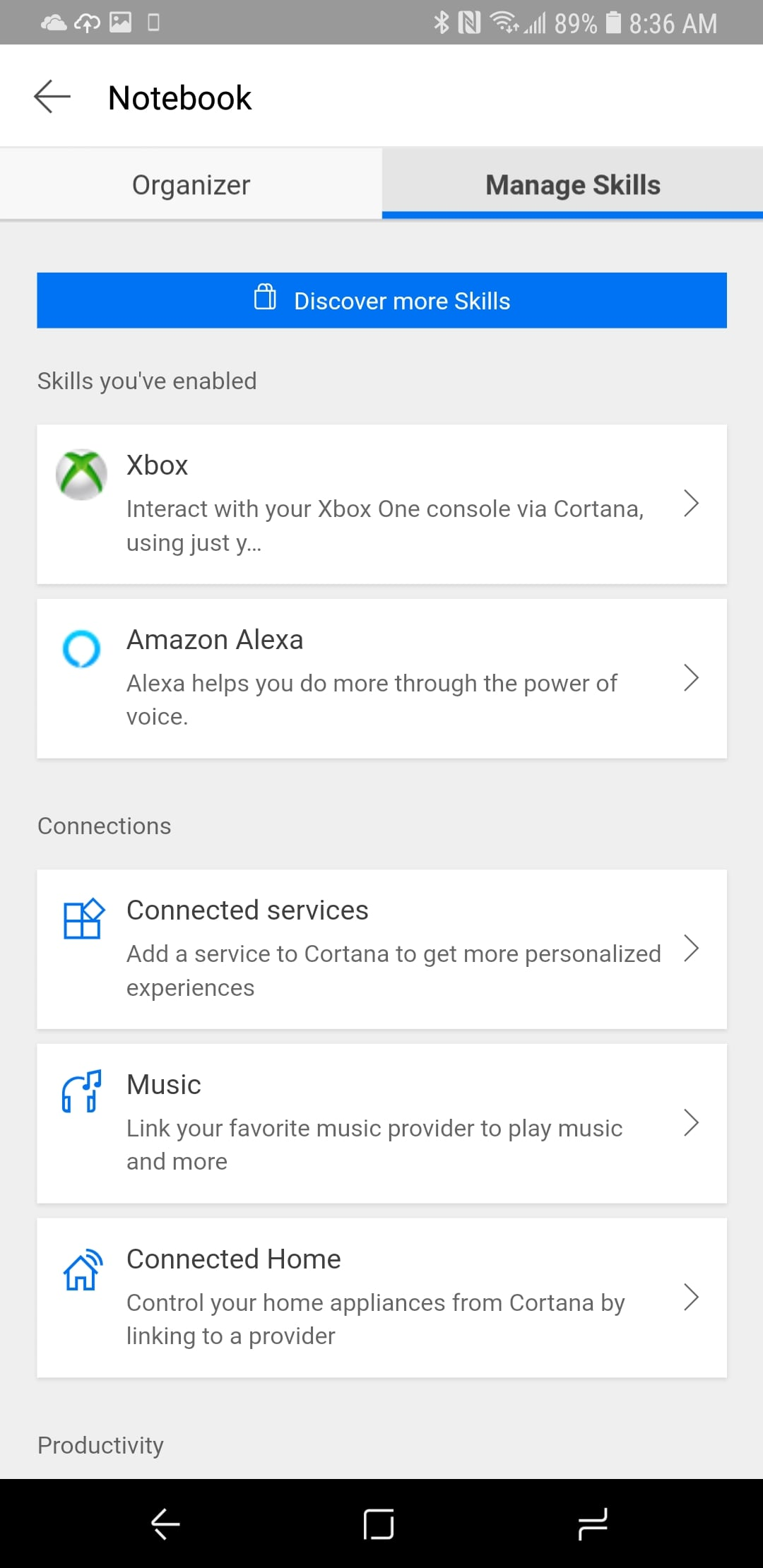 Cortana App 3.0 on Android