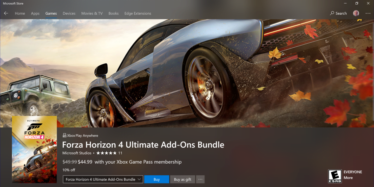 Forza Horizon 4 and Ultimate Add-Ons Bundle Now Available