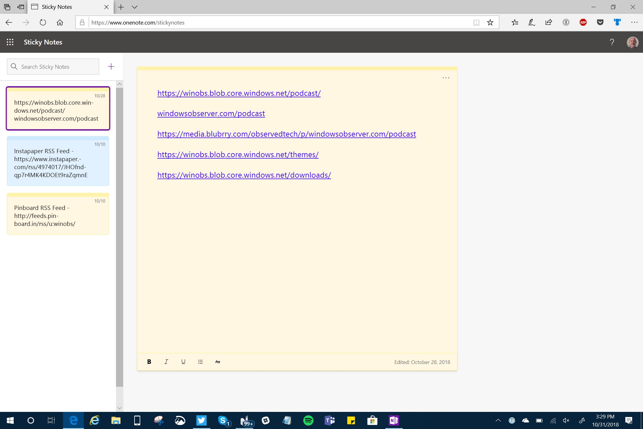 Sticky Notes on the Web