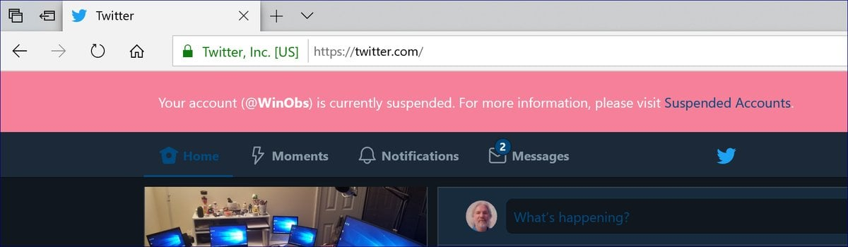 Twitter Account Suspended Banner