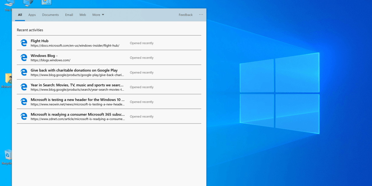 Windows 10 (19H1) Build 18298 Splits Out Search & Cortana