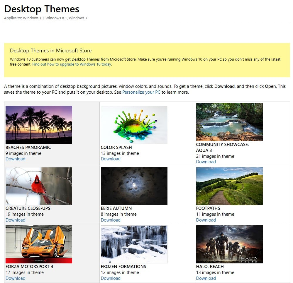Featured Desktop Themes