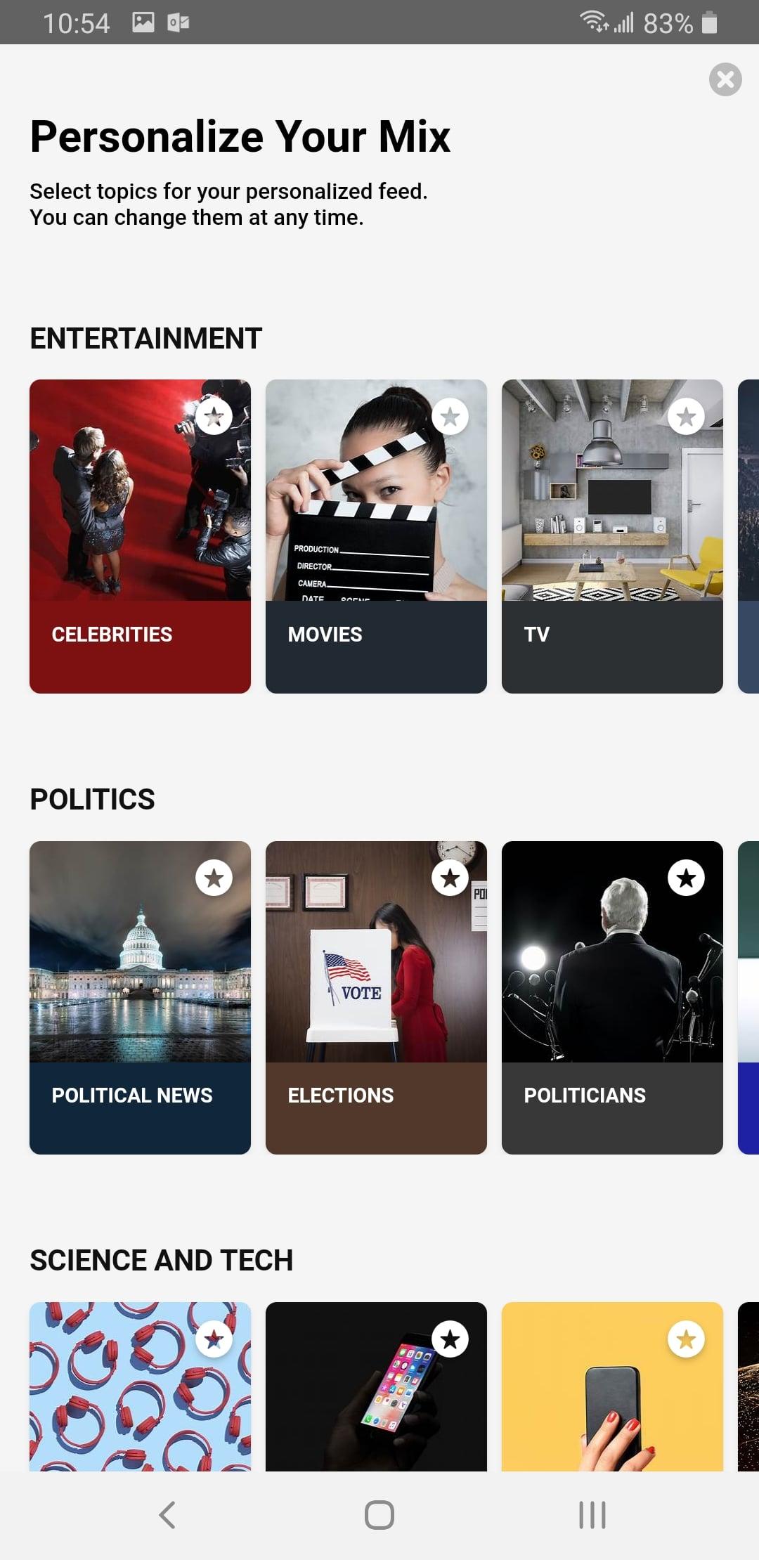 Hummingbird News App on Android