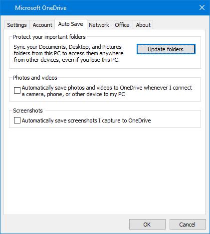 Autosave Screenshots on OneDrive