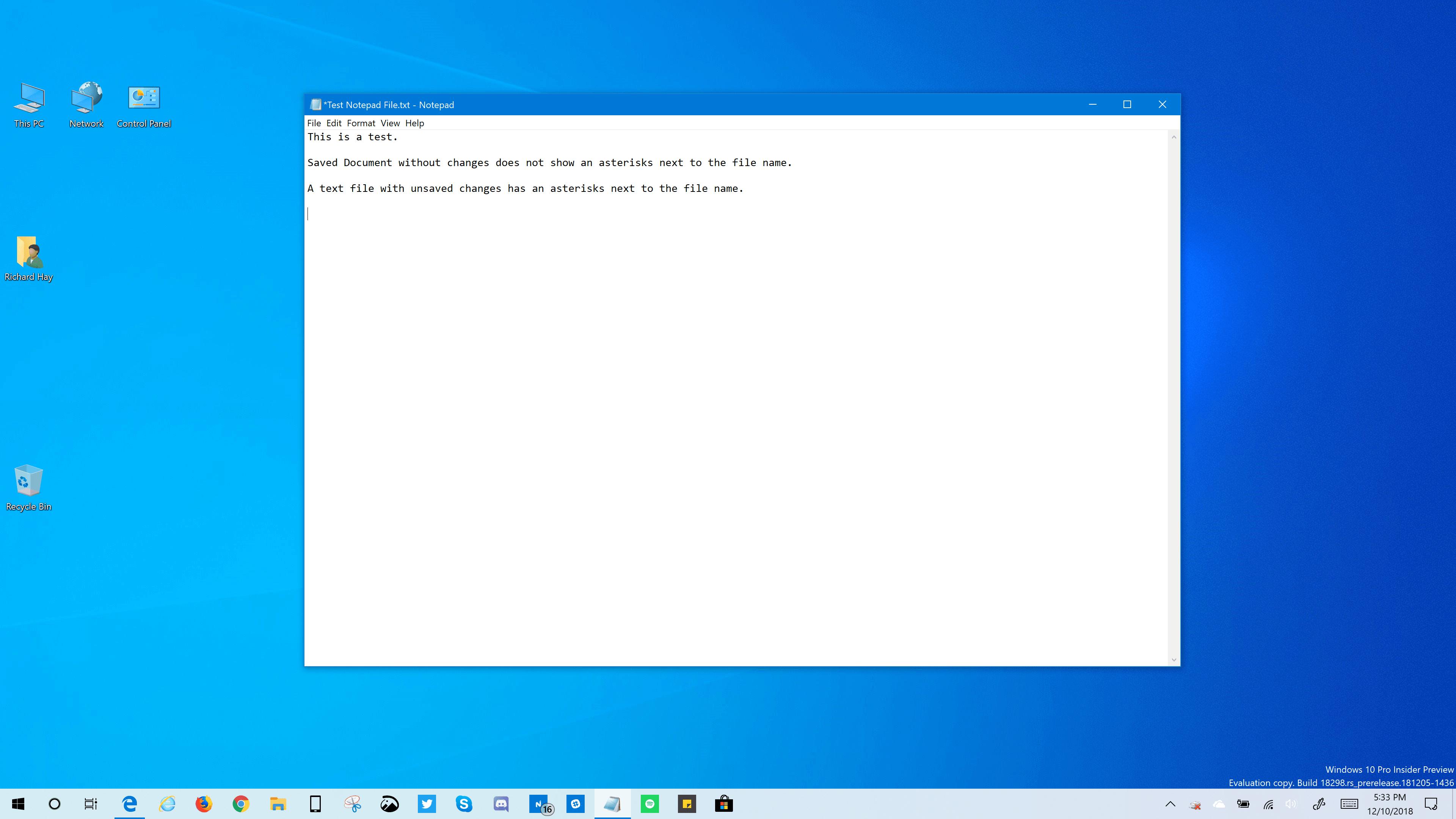 Windows 10 (19H1) Build 18298