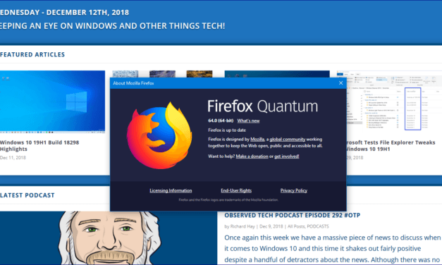 Latest Firefox Update Supports Native Windows 10 Sharing