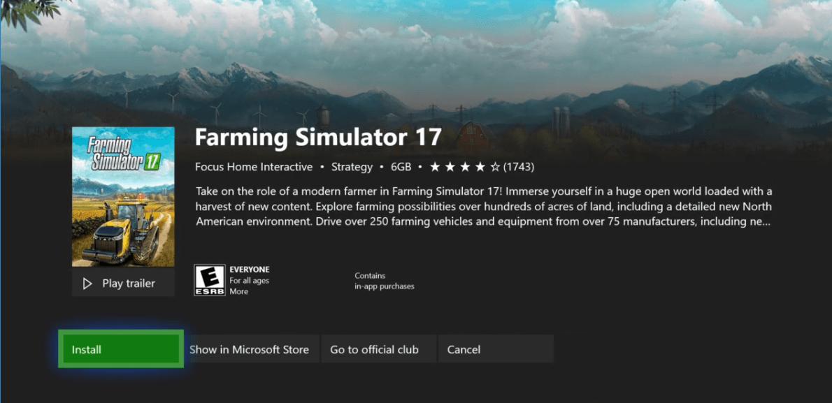 Farming Simulator 17 - Game Pass