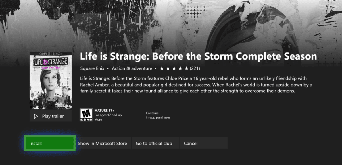 Life is Strange: Before the Storm Complete Season - Game Pass