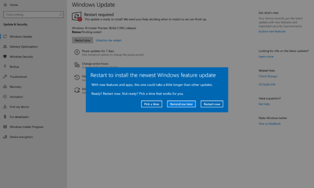 Windows 10 (19H1) Build 18342 Arrives in Fast Ring
