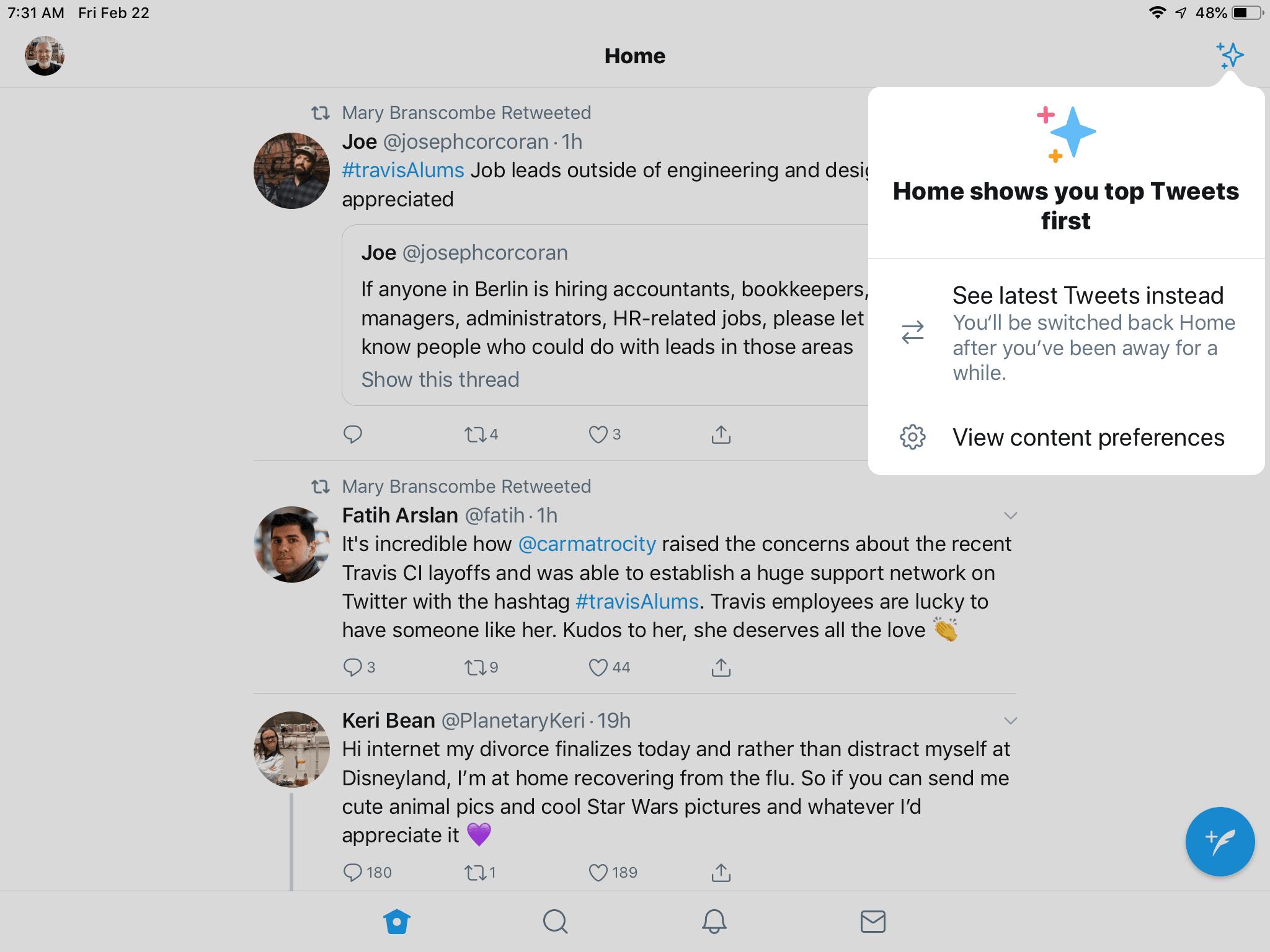 Twitter on iPad