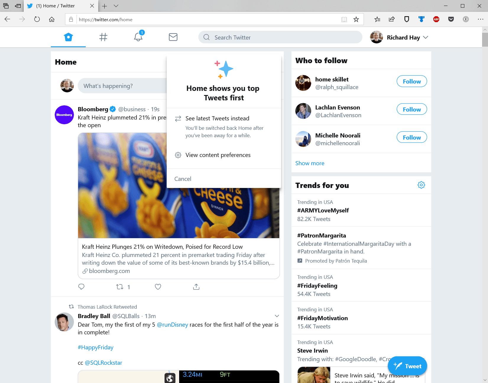 Twitter on Web