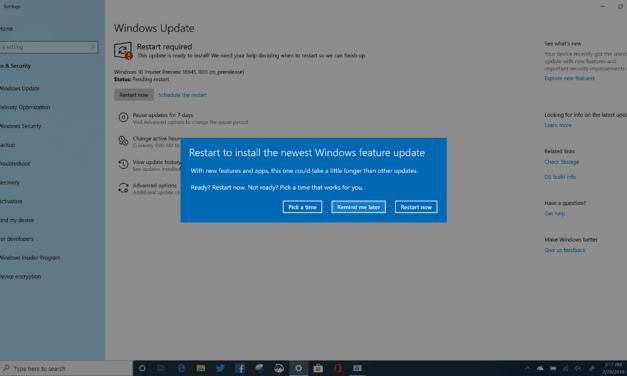 Windows 10 (20H1) Skip Ahead Build 18845 Released to Testers