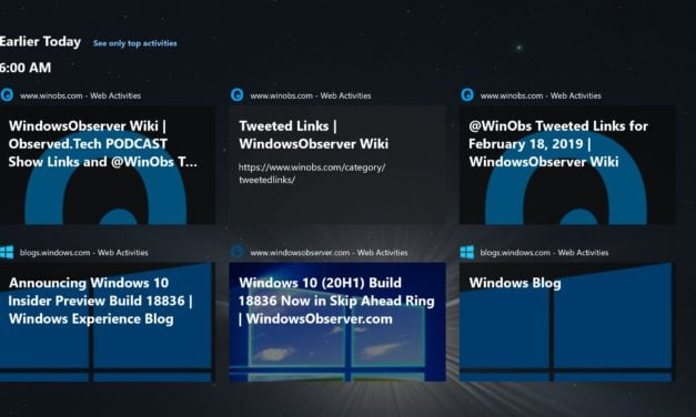 Microsoft Releases Windows Timeline Support Extension for Chrome