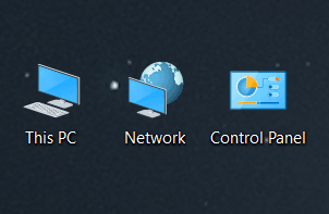 Windows 10 Change Icon Sizes - Desktop Medium