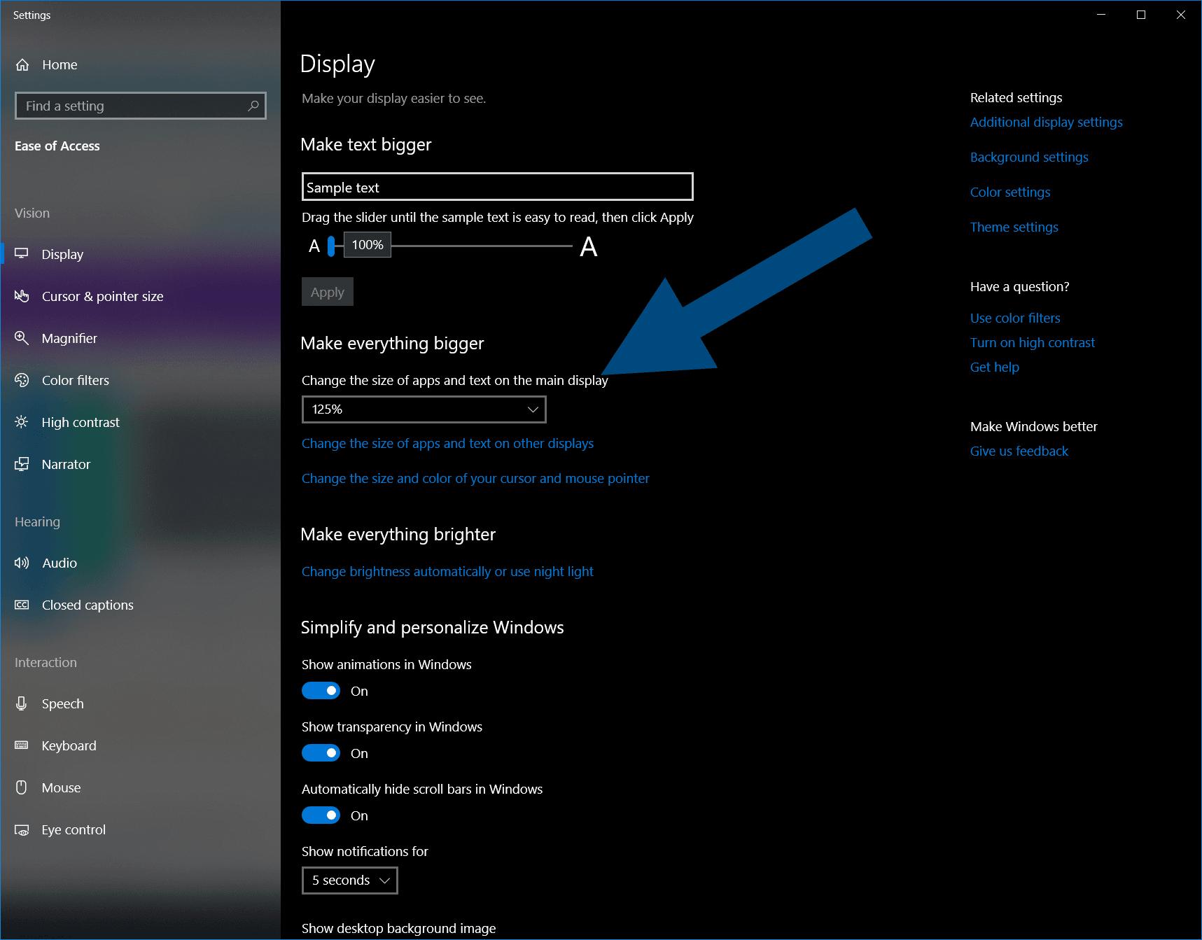 Windows 10 Change Icon Sizes - Make Everything Bigger