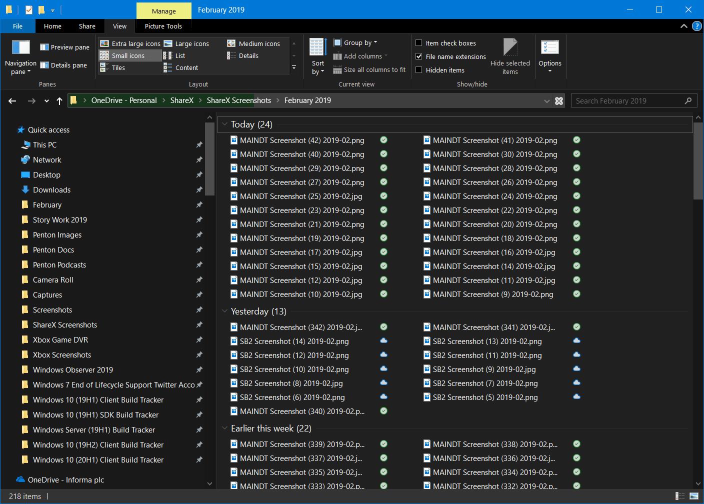 Windows 10 Change Icon Size (Small)