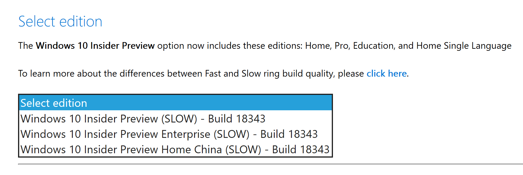 Windows 10 (19H1) Slow Ring Build 18343 ISO Downloads