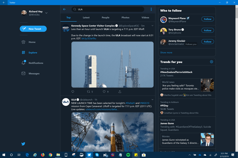 Windows 10 Twitter App New UI