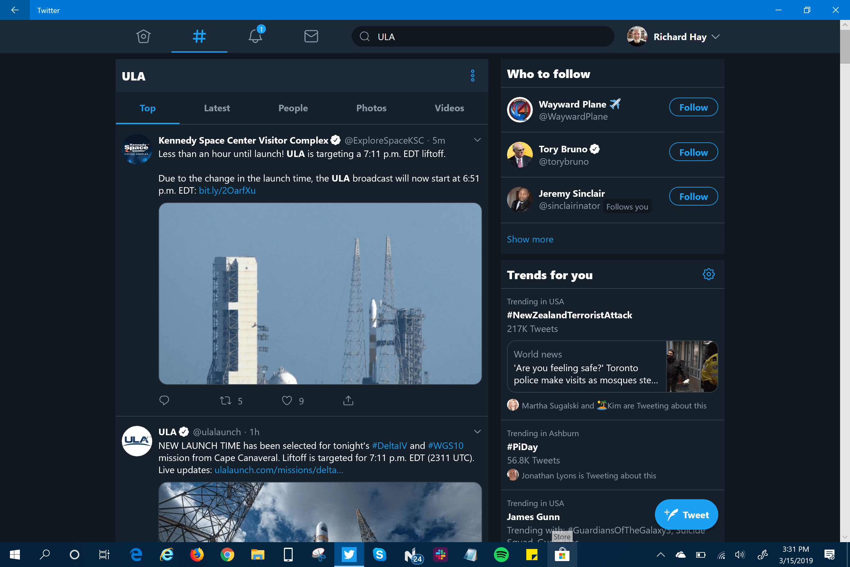 Windows 10 Twitter App Old UI