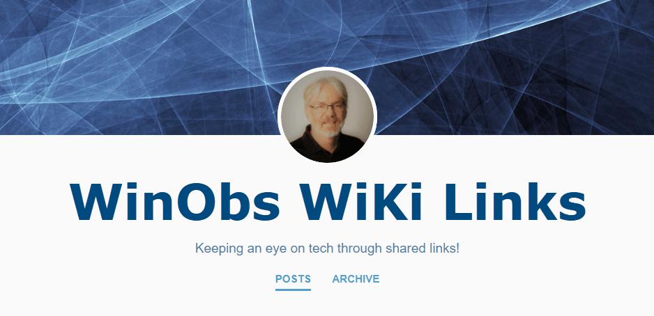 WinObs WiKi Links Tumblr Header