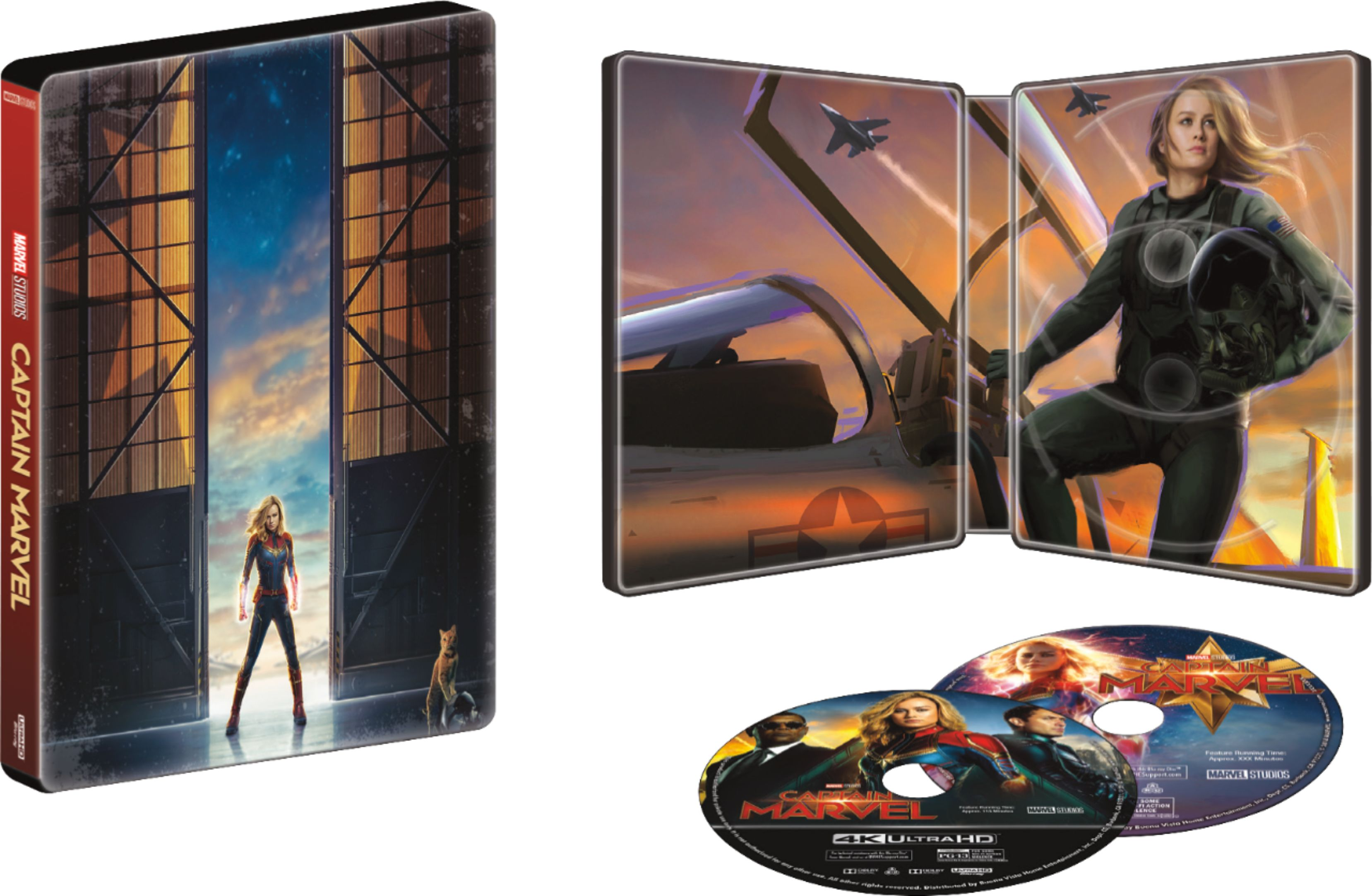 Captain Marvel SteelBook Box Cover from Best Buy