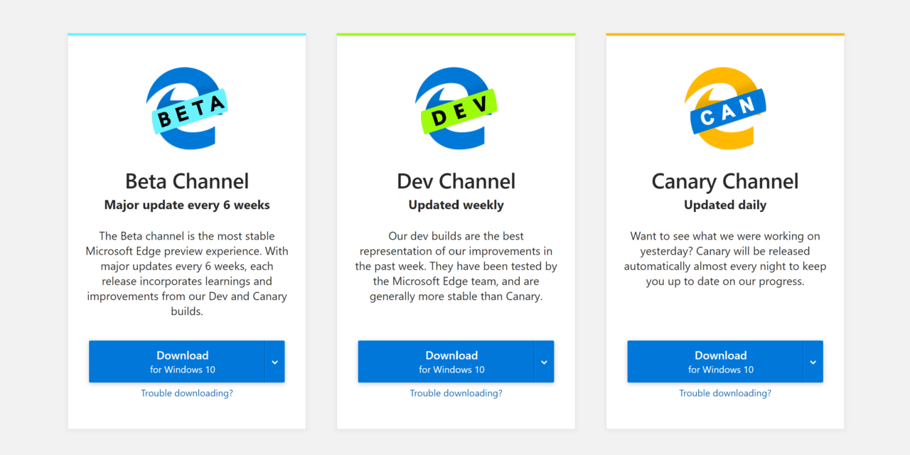 Microsoft Edge with Chromium Preview Channel Updates – August 2019