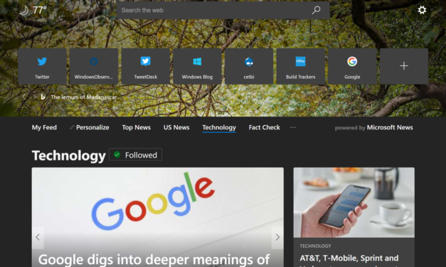 Latest on Edge (Chromium) Preview – October 2019