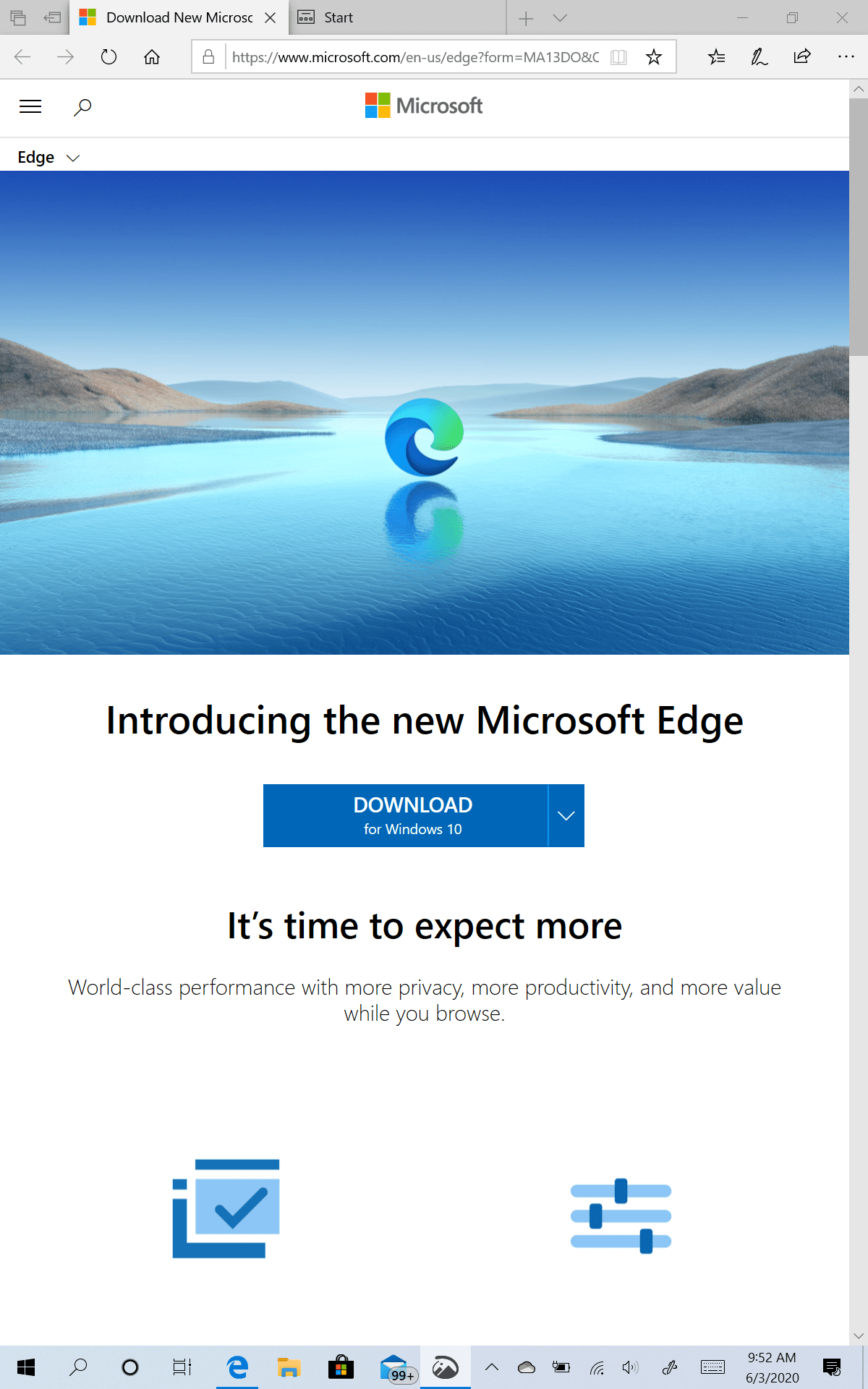 New Edge Rollout on Windows 10 (Version 1909)