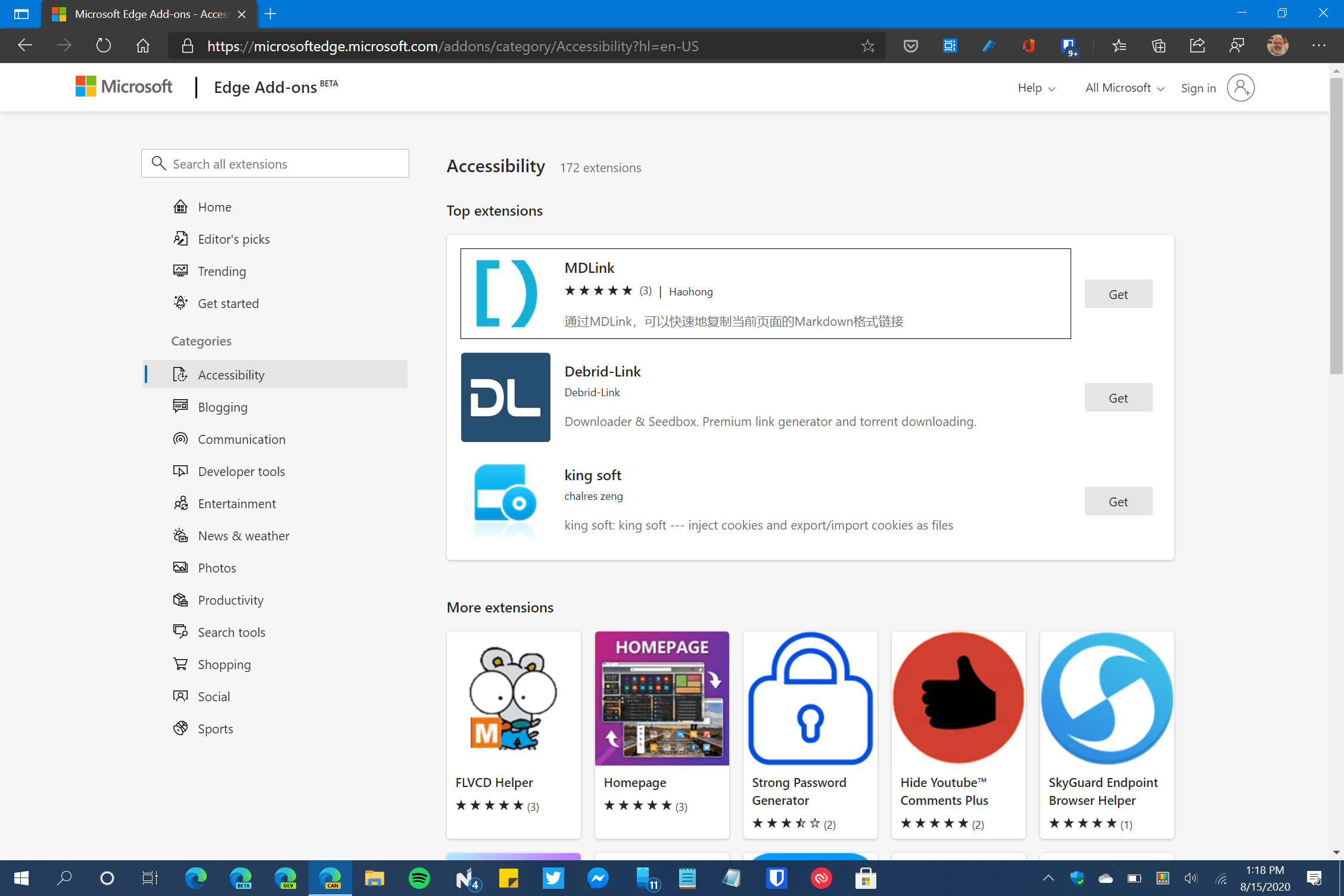 Microsoft Edge Add-ons