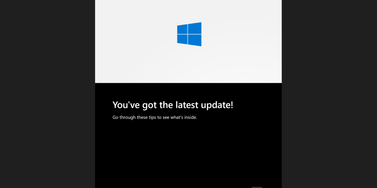 Windows 10 Updated Out of Box Experience