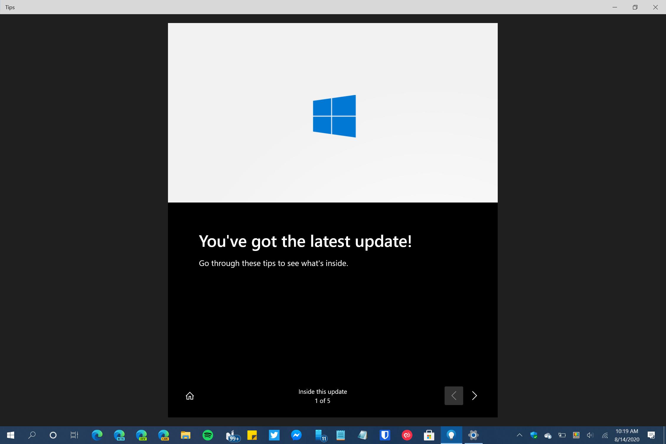 Windows 10 OOBE Update