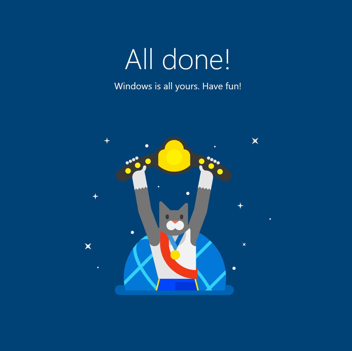Windows 10 - All Done Graphic