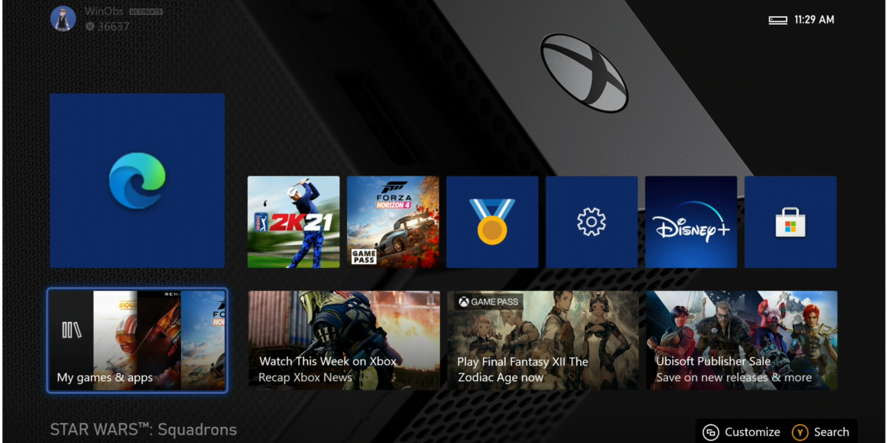 Xbox Insider Alpha Skip-Ahead Branch Receives First Edge Chromium Build