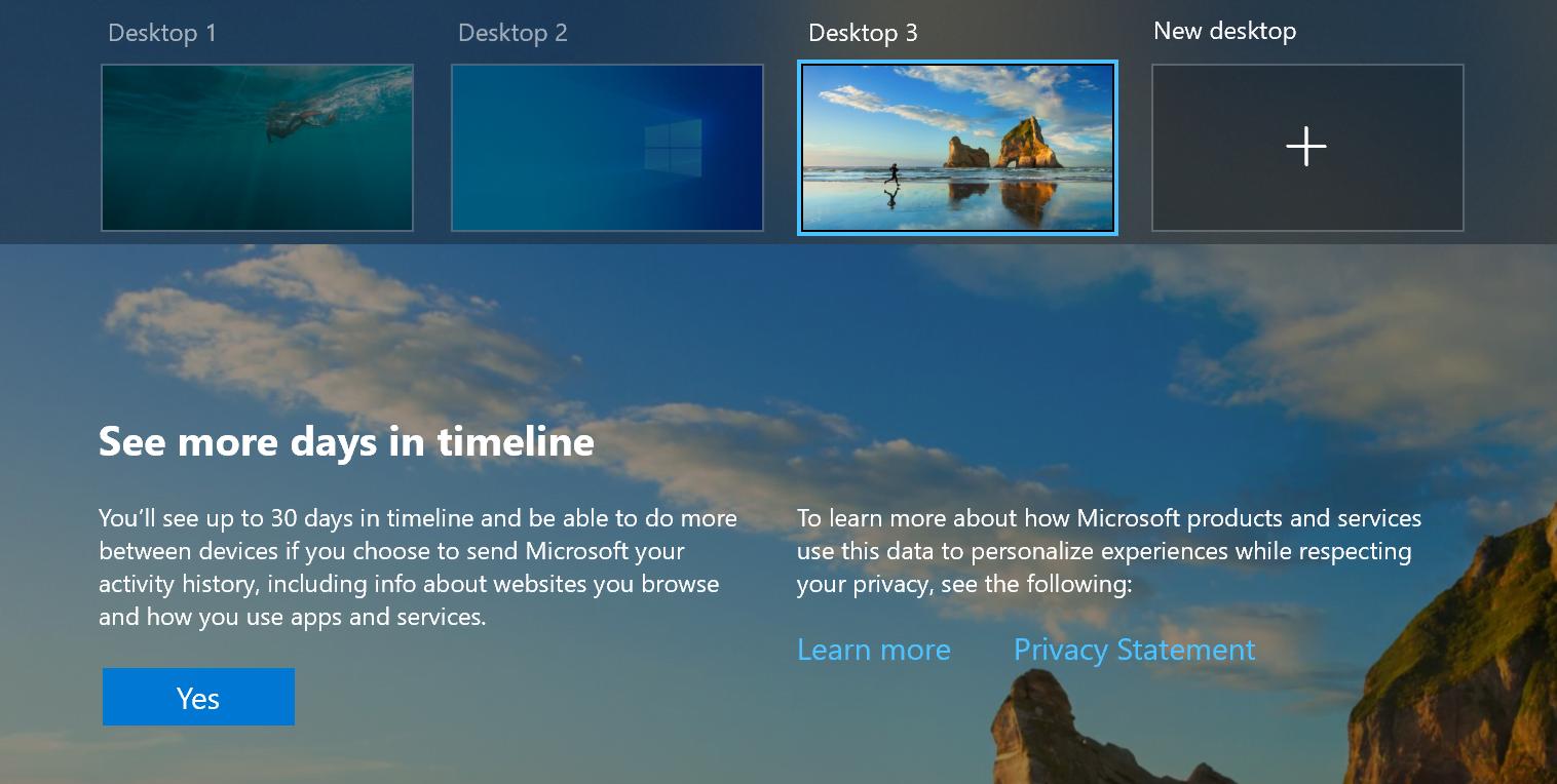 Windows 10 Virtual Desktops