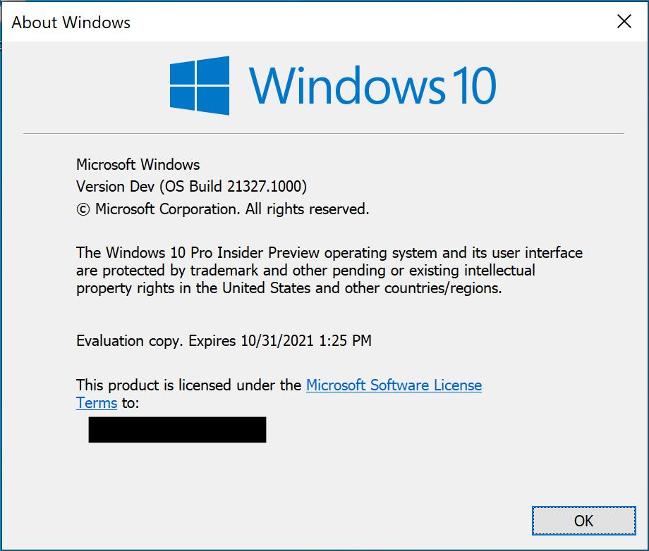 Windows 10 (Version Dev)
