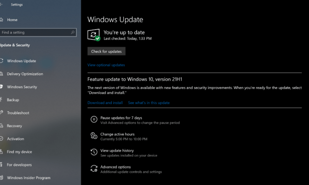 Windows 10 (Version 21H1) Now Available