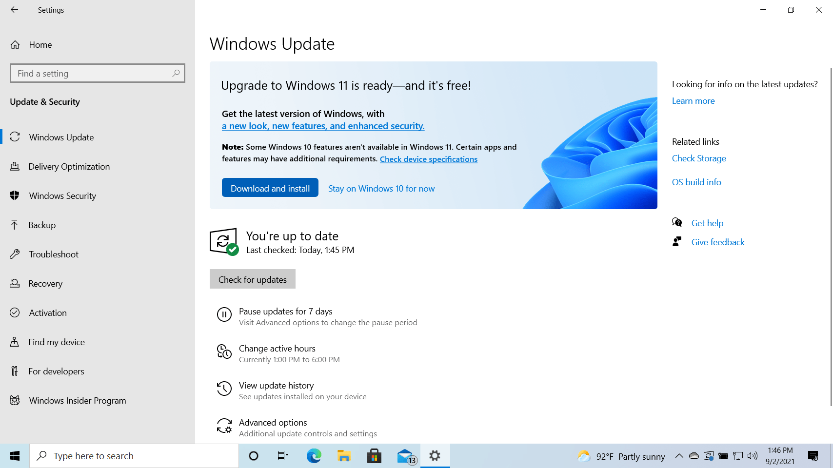 Windows 10 (Version 21H2) in Release Preview Channel